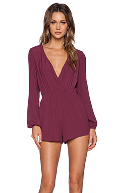 Lovers + Friends Monday to Friday Romper in Wine