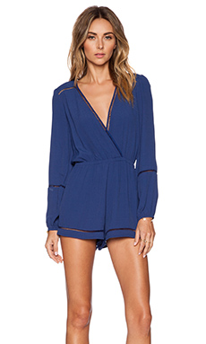 Lovers + Friends x REVOLVE Monday to Friday Romper in Navy