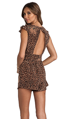 Lovers + Friends You and I Romper in Leopard