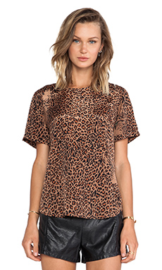 Lovers + Friends Perfection Tee in Leopard