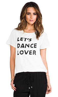 Lovers + Friends Dance Tee with Beaded Detail in Cream