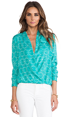 Lovers + Friends Get Down Blouse in Viper