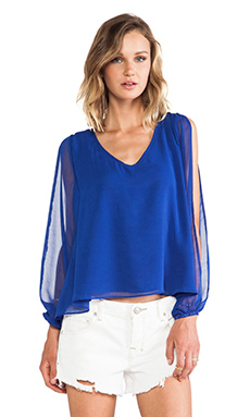 Lovers + Friends Day Dream Blouse in Violet