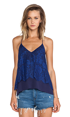 Lovers + Friends Poppy Lace Cami in Royal Blue