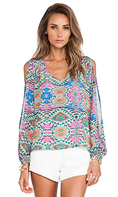 Lovers + Friends Daydream Blouse in Mosaic