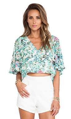 Lovers + Friends Moonlight Blouse in Island Hop