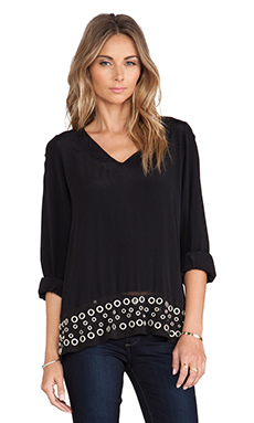 Lovers + Friends Sweet Kiss Blouse en Noir