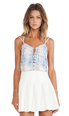 Lovers + Friends Vacay Cami in Pastel Python