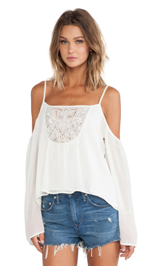 Lovers + Friends Coastal Love Top in Ivory