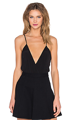 Lovers + Friends Vision Cami Bodysuit in Black