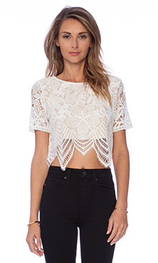 Lovers + Friends Affair Crop Top in White