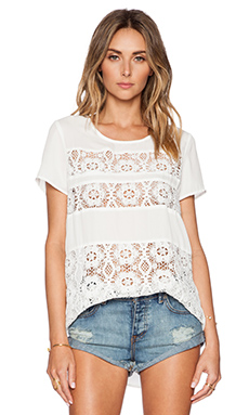 Lovers + Friends Lexington Top in Ivory
