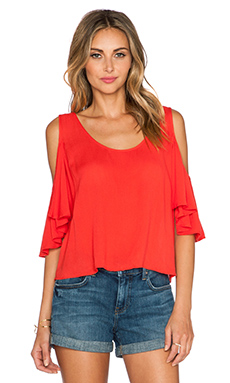 Lovers + Friends First Date Top in Coral