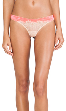 Love Haus by Beach Bunny Lovely Eyelash Panty in Neon Coral & Nude