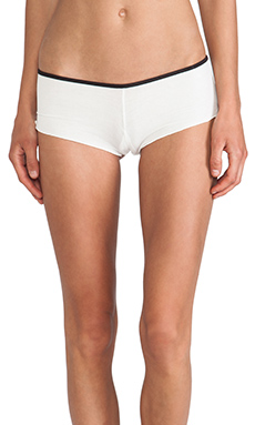 Love Haus by Beach Bunny Boyfriend Rib Pocket Short in White