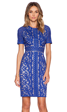 Lover Poppy Fitted Dress in Royal