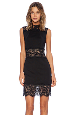 Lover Vee Vee Fitted Dress in Black