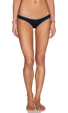 Lisa Lozano Chevron Bikini Bottom in Black