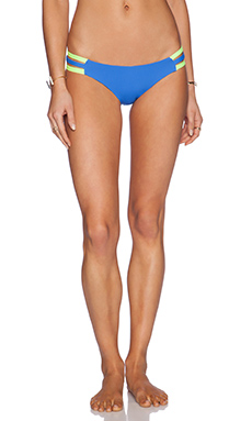 Lisa Lozano Neon Sporty Bikini Bottom in Neon Yellow