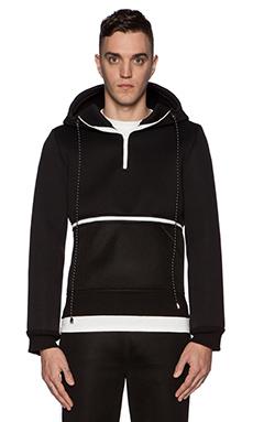 LPD New York x Adidas Hoodie Crop Top in Black
