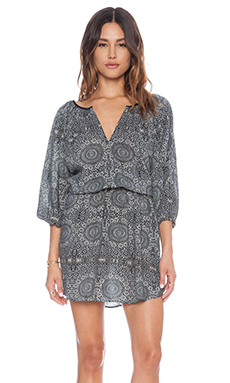 Love Sam Rania Short Dress in Moroccan Rug Print