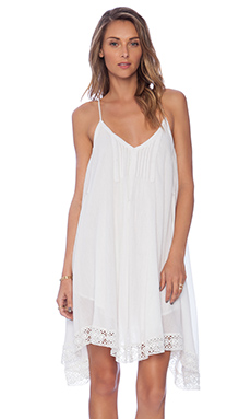 Love Sam Bliss Lace Trim Dress in White