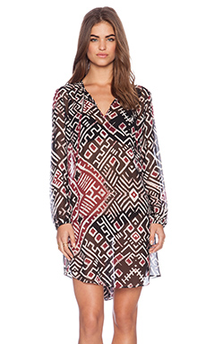 Love Sam Carmen Dress in Love Print