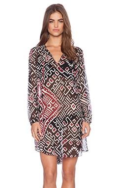 Love Sam Carmen Dress in Love Print