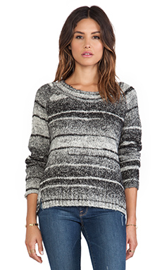 Love Sam Daisy Double Slit Sweater in Grey Tones