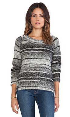 Love Sam Daisy Double Slit Sweater in Grey Tones