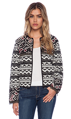 Love Sam Isabel Jacket in Black & White Geo