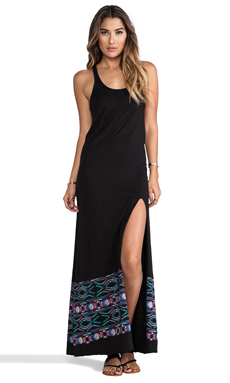L*SPACE Midnight Waves Racerback Dress in Black
