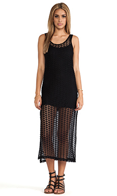 L*SPACE Charmer Tank Dress in Black