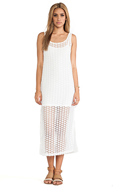 L*SPACE Charmer Tank Dress in Creme