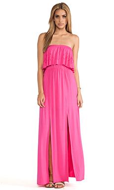 L*SPACE Flutterbye Maxi Dress in Hot Pink