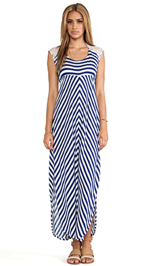 L*SPACE Skyfall Stripe Dress in Navy & White Stripe