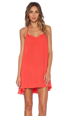 L*SPACE Drifter Tunic in Red Coral