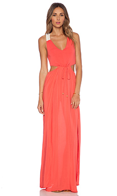 L*SPACE Wonderwall Maxi Dress in Red Coral