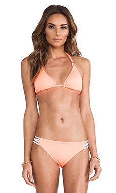 L*SPACE Le Chic Top in Electric Coral