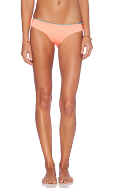 L*SPACE Lydia Dae Reversible Bikini Bottom in Electric Coral