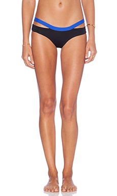 L*SPACE Hollywood Bikini Bottom in Black