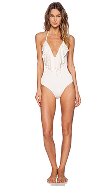 L*SPACE Sunsetter One Piece Swimsuit in Shell
