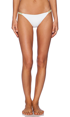 L*SPACE Nouveau Bikini Bottom in White