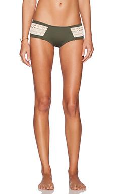 L*SPACE Boho Bikini Bottom in Fern