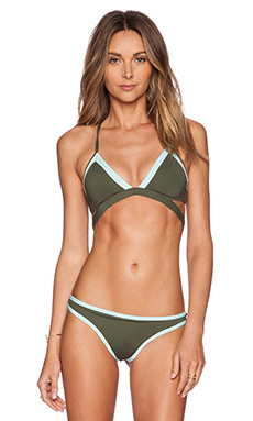 L*SPACE Platinum Bikini Top in Fern