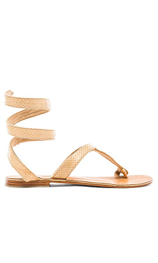 L*SPACE by Cocobelle Snake Wrap Sandal in Taupe