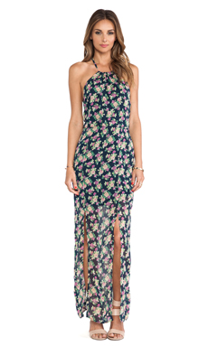Lucca Couture Maxi Dress in Navy Floral