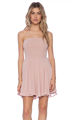 Lucca Couture Strapless Dress in Blush