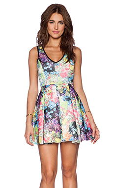 Lucca Couture Fit and Flare Dress in Floral