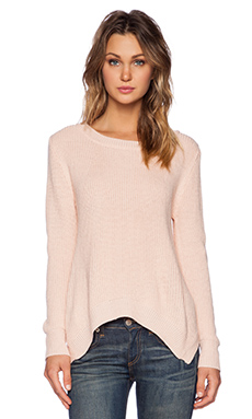 Lucca Couture Knit Pullover Sweater in Petal